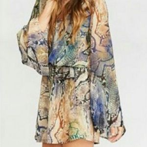 Show me your mumu runaway mini dress in rioconda